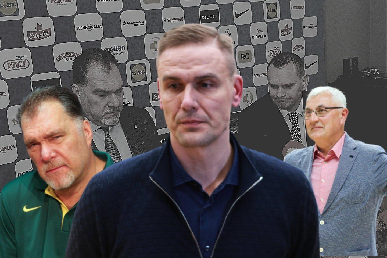 R.Javtokas (centre) vienas iš kandidatų pakeisti A.Sabonį.<br>Lrytas.lt montažas.
