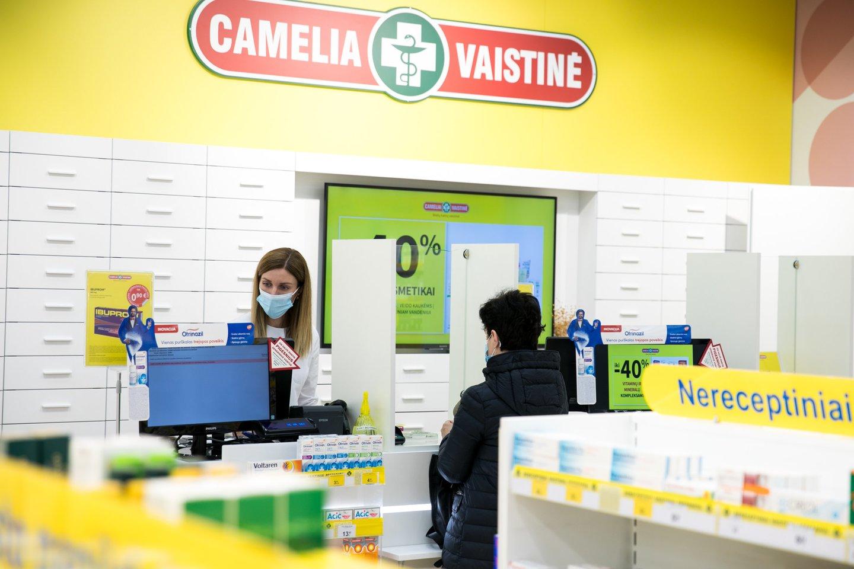 """Mažų kainų vaistinių tinklas """"Camelia"""" Lietuvos gyventojų buvo išrinktas tvariausiu farmacijos sektoriaus ženklu šalyje.<br>Partnerio nuotr."""