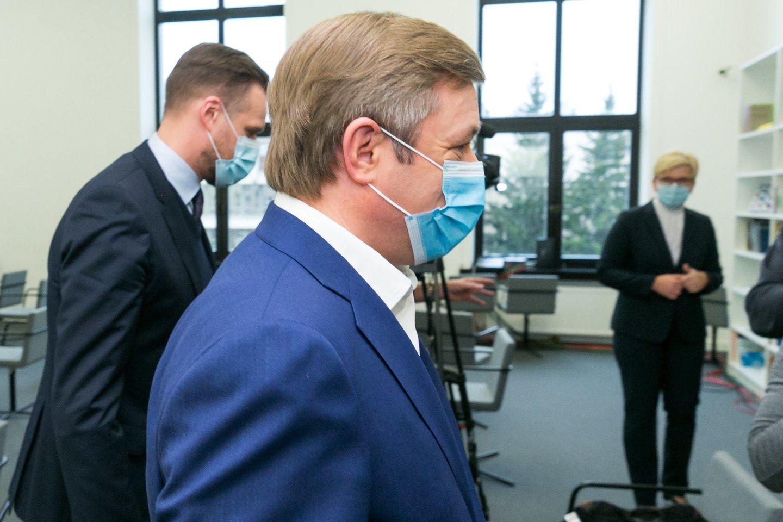 Lietuvos valstiečių ir žaliųjų sąjunga Gabrielius Landsbergis Ramūnas Karbauskis Ingrida Šimonytė<br>T.Bauro nuotr.