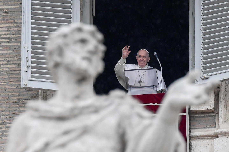 Popiežius Pranciškus.<br>AFP/Scanpix nuotr.