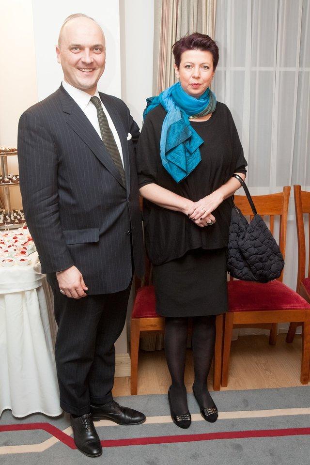 Giedrius Drukteinis su žmona Rima.<br>D.Umbraso nuotr.
