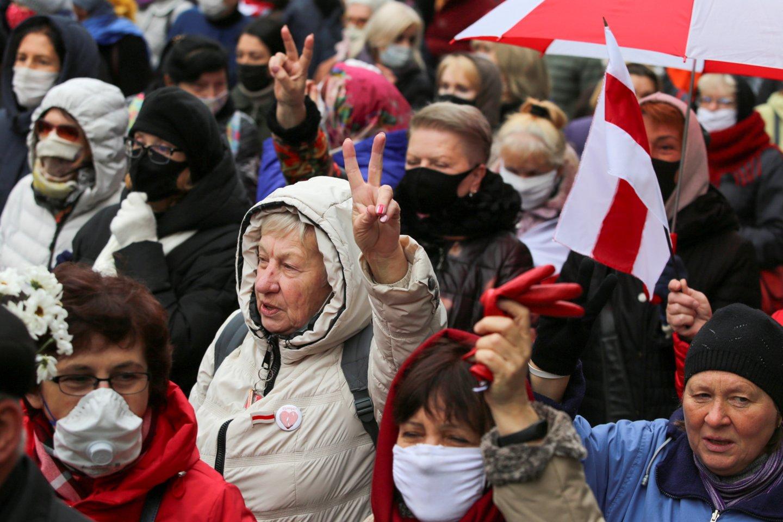 Baltarusijoje minint Laisvės dieną, teisių gynėjai praneša apie 45 sulaikytuosius.<br>Reuters/Scanpix nuotr.