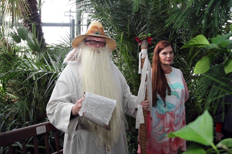 Virgis Stakėnas su žmona Ramute.<br>M.Patašiaus nuotr.