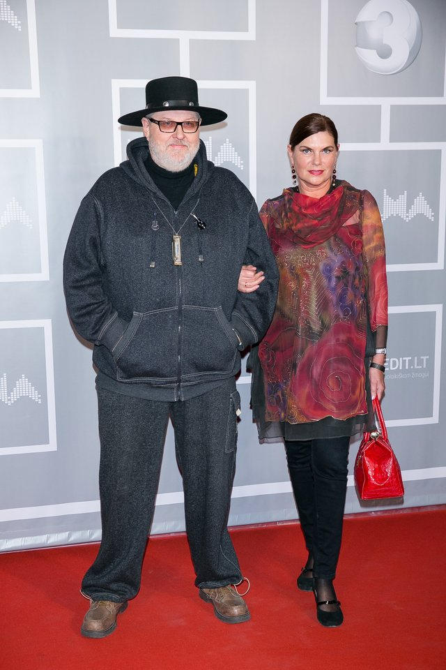 Virgis Stakėnas su žmona Ramute.<br>T.Bauro nuotr.