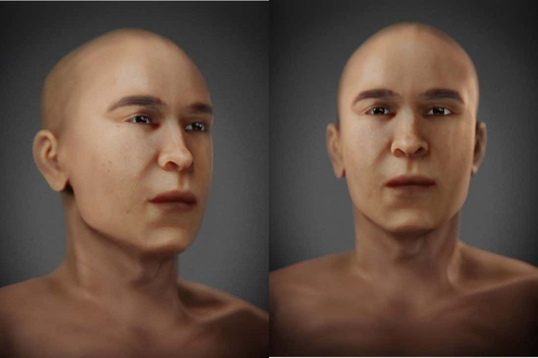 Senovės Egipto faraonas, kuris galimai yra garsiojo faraono Tutanchamono tėvas, turi naują veidą: karališka ramybe dvelkiančius bruožus, suformuotus skaitmeninės rekonstrukcijos būdu.<br>FAPAB iliustr.