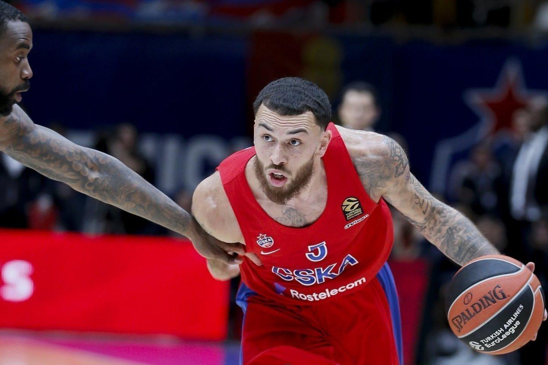 M.Jameso dienos CSKA suskaičiuotos<br>vk.com/cskabasket nuotr.