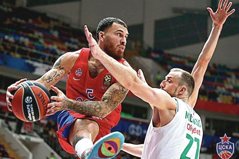 """M.Jameso dienos CSKA suskaičiuotos<br>""""Cskabasket.com"""" nuotr."""