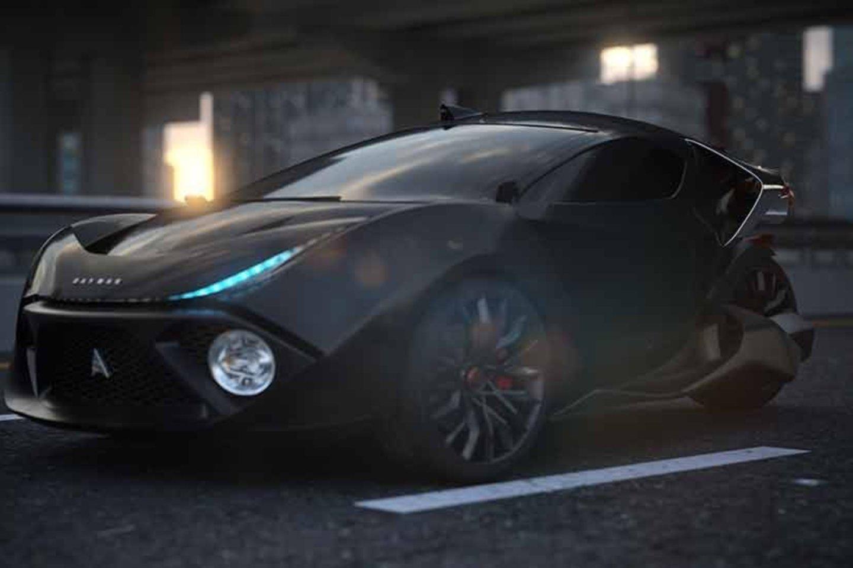 """""""Ultimate"""" modelio kėbulas pagamintas iš anglies pluošto, turi belaidį įkrovimą, autonominio vairavimo ir automatinio durų atidarymo sistemas.<br>Gamintojo nuotr."""