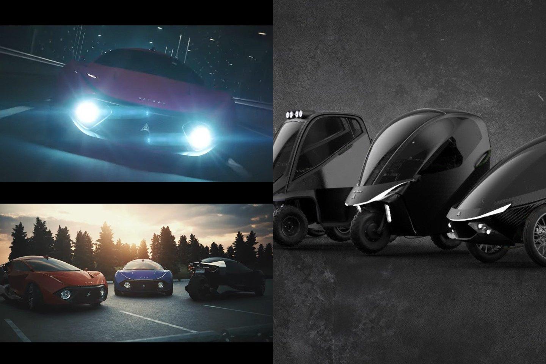 """""""Ultimate"""" modelio kėbulas pagamintas iš anglies pluošto, turi belaidį įkrovimą, autonominio vairavimo ir automatinio durų atidarymo sistemas.<br>lrytas.lt fotomontažas"""