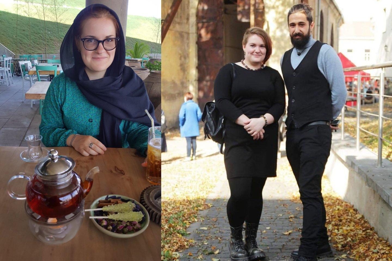 Šeida Irane ir su dabartiniu draugu Nima.<br>Asmeninio archyvo nuotr.