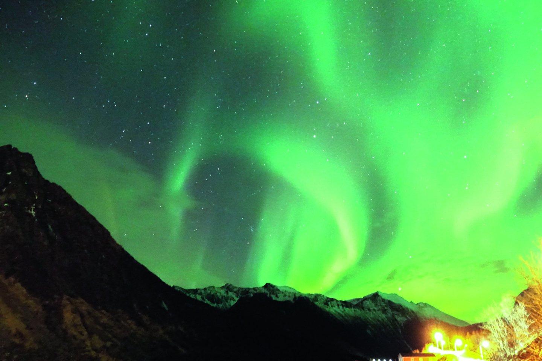 Stebėti įspūdingas Šiaurės pašvaistes šiaurinėje Norvegijos dalyje galima pas Šiaurės pašvaisčių medžiotoja vadinamą T.Kopylovą.<br>Nuotr. iš asmeninio albumo