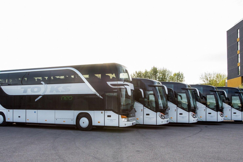 """Nuo balandžio 1 d. Tolimojo keleivinio transporto kompanija (""""Toks"""") atnaujina savo tarpmiestinius reisus.<br>Praešėjų spaudai nuotr."""