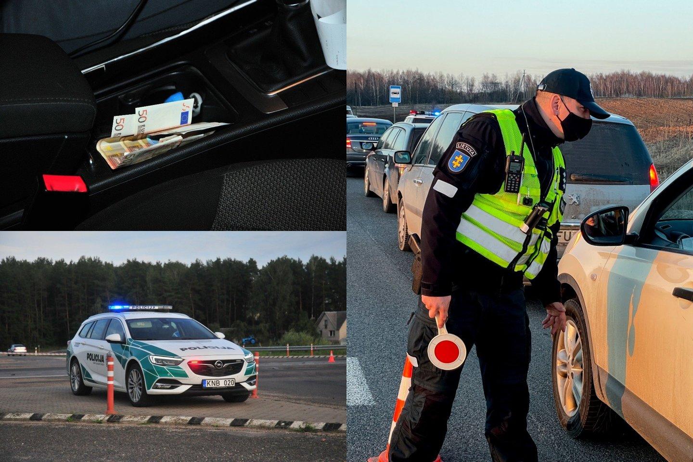 Nors ir atrodo, kad kyšiai pareigūnams jau nebemadingi, tačiau atsiranda vairuotojų, kurie išdrįsta pasiūlyti kelis šimtus eurų.<br>lrytas.lt fotomontažas