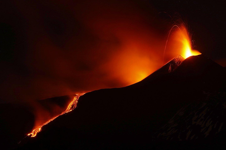 Ugnikalnis.<br>Scanpix/AP/Reuters nuotr.