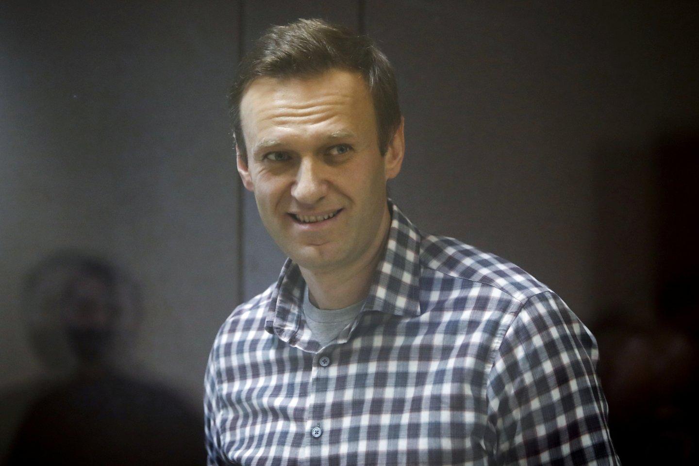 A. Navalno bendražygiai sunerimę dėl bado streiką paskelbusio opozicionieriaus sveikatos. <br>Reuters/Scanpix nuotr.