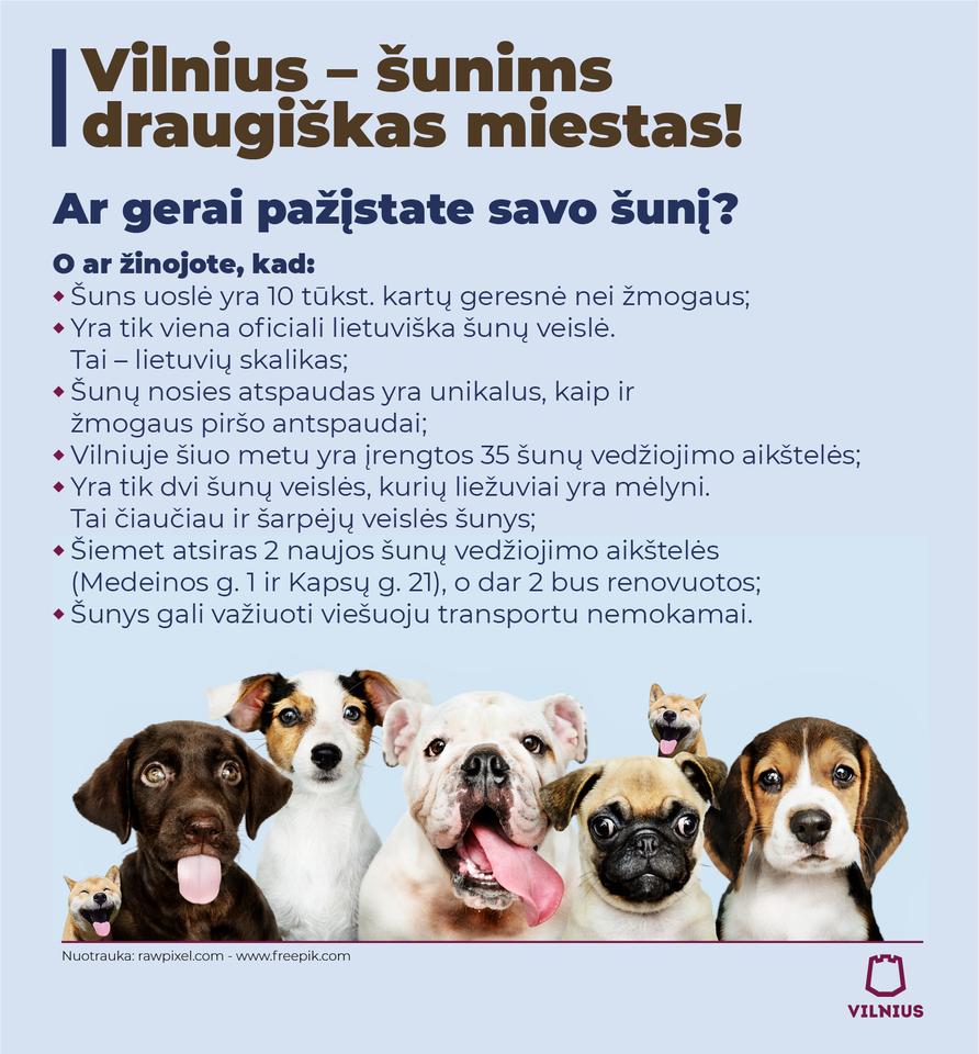 Keturkojų džiaugsmui Vilniuje – 2 naujos ir 2 renovuotos vedžiojimo aikštelės.