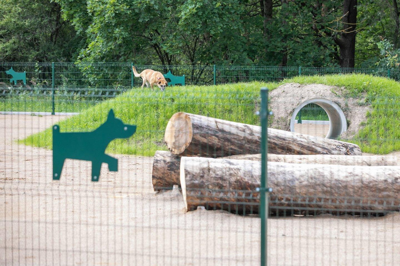 Keturkojų džiaugsmui Vilniuje – 2 naujos ir 2 renovuotos vedžiojimo aikštelės.<br>S.Žiūros nuotr.
