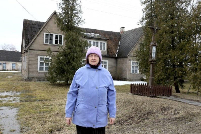 Šioje buvusioje mokykloje V.Gaigalienė ir gyveno, ir mokėsi.<br>A.Švelnos nuotr.