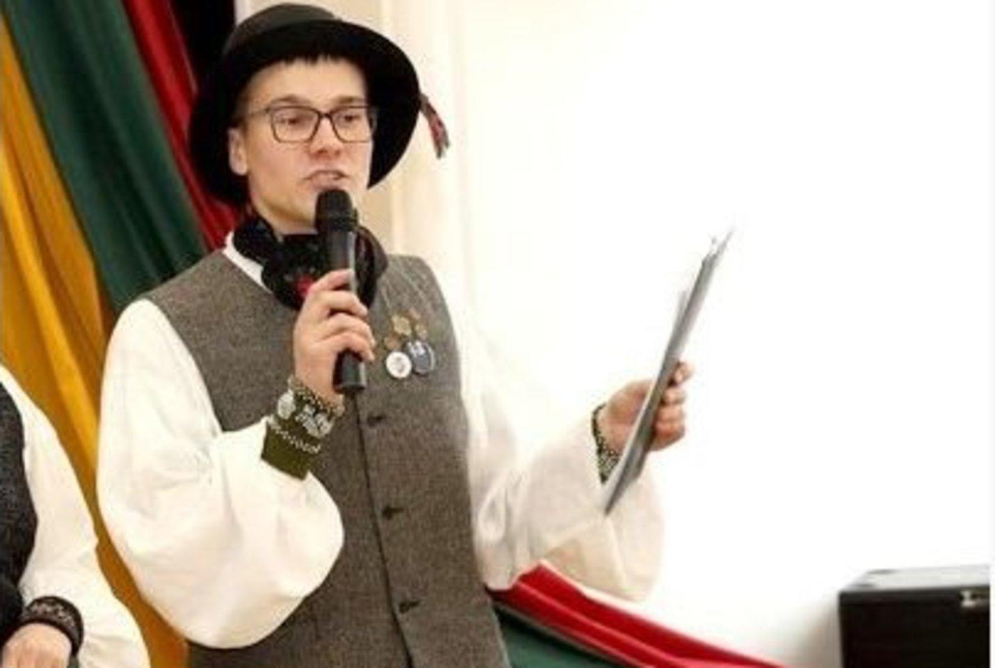 Vesti tautosakos vakaronę L.Simsonui – ne naujiena.<br>Asmeninio archyvo nuotr.