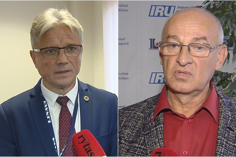 """""""Linava"""" dvejus metus bylinėjosi su buvusiu prezidentu E.Mikėnu (kairėje).<br>Nuotr. iš LR archyvo."""