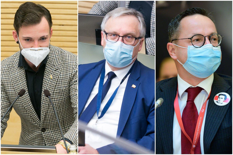 Tomas Vytautas Raskevičius, Artūras Žukauskas ir Žygimantas Pavilionis<br>Lrytas.lt koliažas