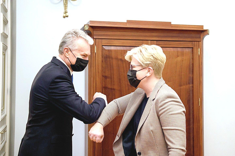 Draugiški prezidento G.Nausėdos ir premjerės I.Šimonytės pasitrynimai – jau praeitis?