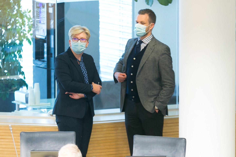Gabrielius Landsbergis ir Ingrida Šimonytė.<br>T.Bauro nuotr.