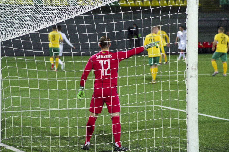 Lietuvos futbolo rinktinė namuose siekia pergalės.<br>V.Ščiavinsko nuotr.