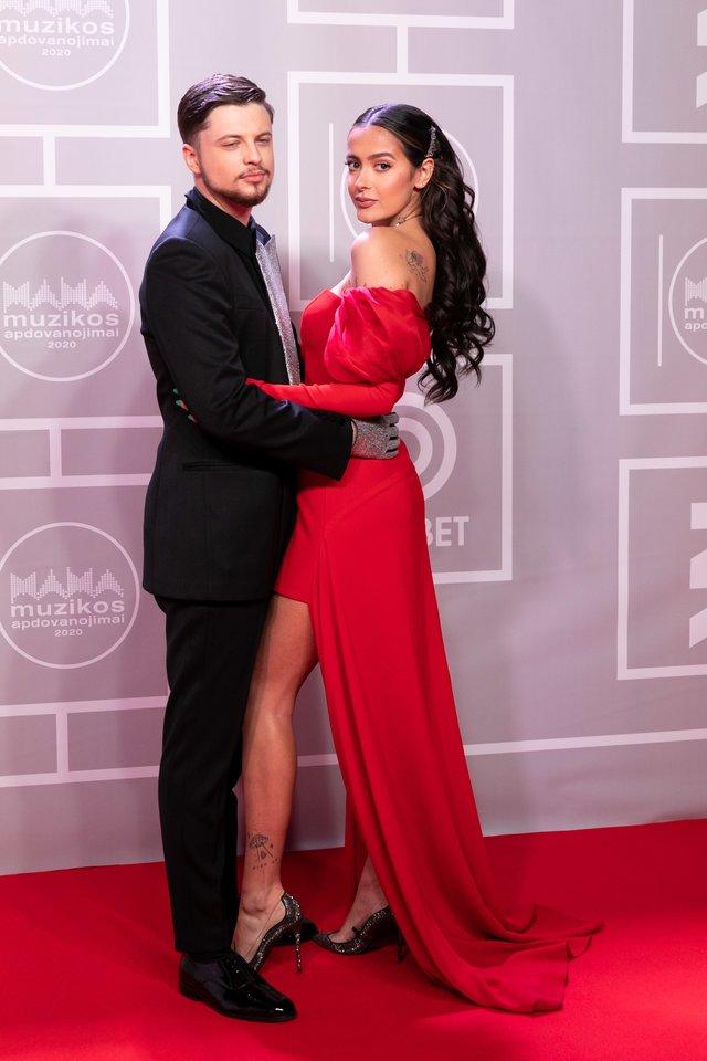 M.A.M.A. apdovanojimai 2021 MAMA / Dominykas Ježerys-OG Version ir Karolina Meschino.<br>T.Bauro nuotr.