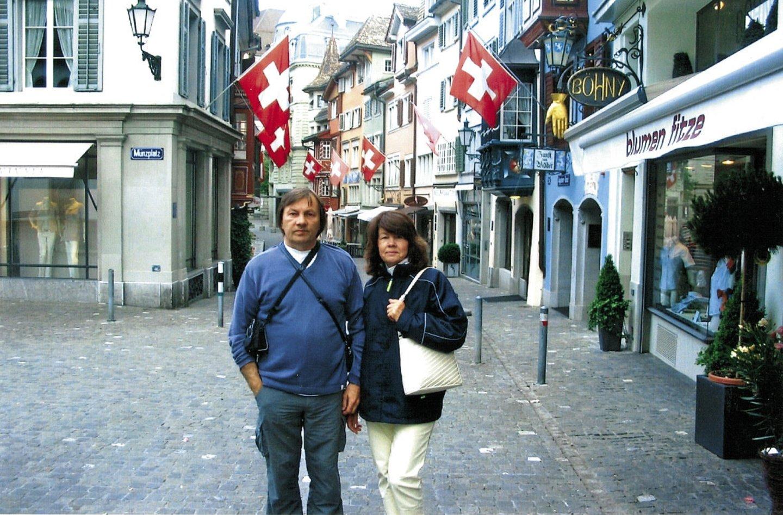 Alvidas su žmona Stase Ciuriche.<br>Asmeninio albumo nuotr.