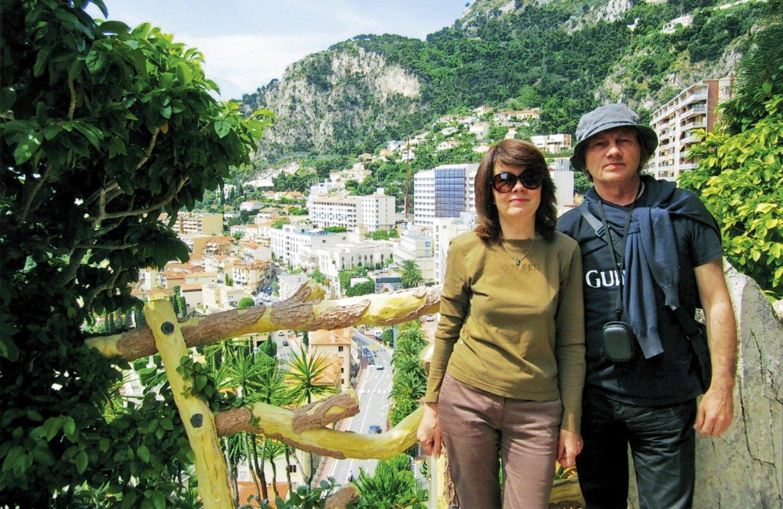 Stasė ir Alvidas Tautkai gėrisi Monako panorama.<br>Asmeninio albumo nuotr.