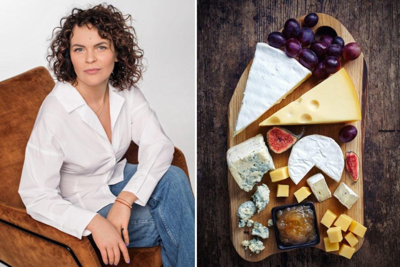 U.Mikelevičiūtė sūrį mėgsta ne tik dėl istorijos ir šaknų – jai tai vienas skaniausių maisto produktų apskritai.<br>123rf ir asmeninio albumo nuotr.