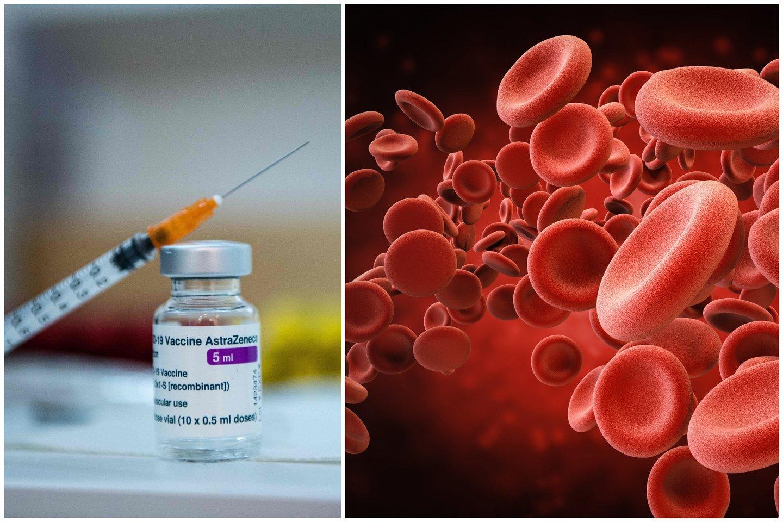 """Vienas aukšto rango Europos vaistų agentūros (EVA) pareigūnas sakė, kad yra ryšys tarp bendrovės """"AstraZeneca"""" vakcinos nuo koronaviruso ir retų kraujo krešulių susidarymo atvejų.<br>123rf nuotr. koliažas"""