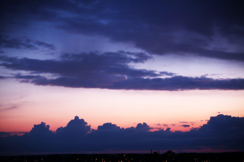 Artimiausiomis dienomis kaupsis lietaus debesys.<br>M.Patašiaus nuotr.