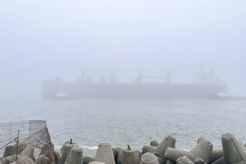 Laivas rūke.<br>V. Ščiavinsko nuotr.
