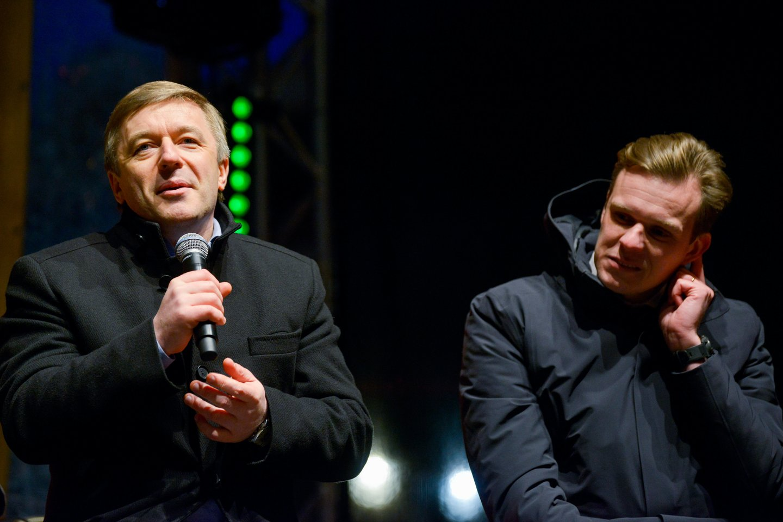 Gabrielius Landsbergis, Ramūnas Karbauskis<br>J.Stacevičiaus nuotr.
