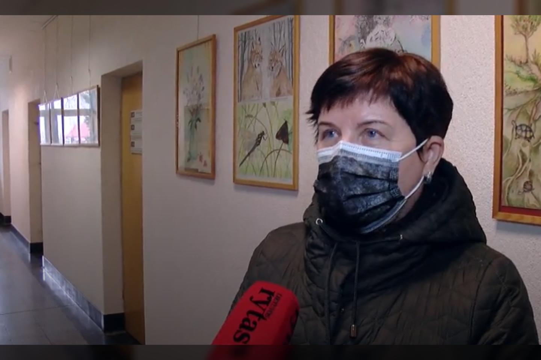 Biržų mero pavaduotoja Audronė Garšvaitė<br>stop kadras