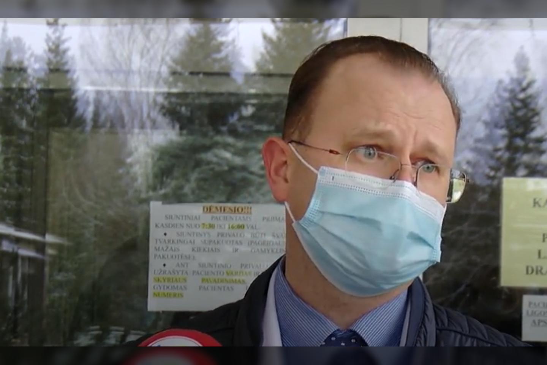 Biržų ligoninės direktorius Petras Bimba<br>stop kadras