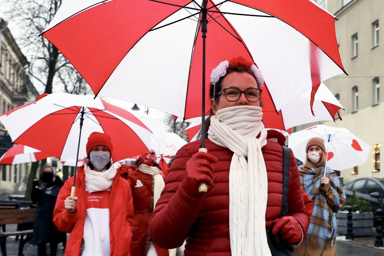 """""""Amnesty International"""" kaltina Baltarusijos valdžią protestuotojų kankinimu. <br>AFP/Scanpix nuotr."""