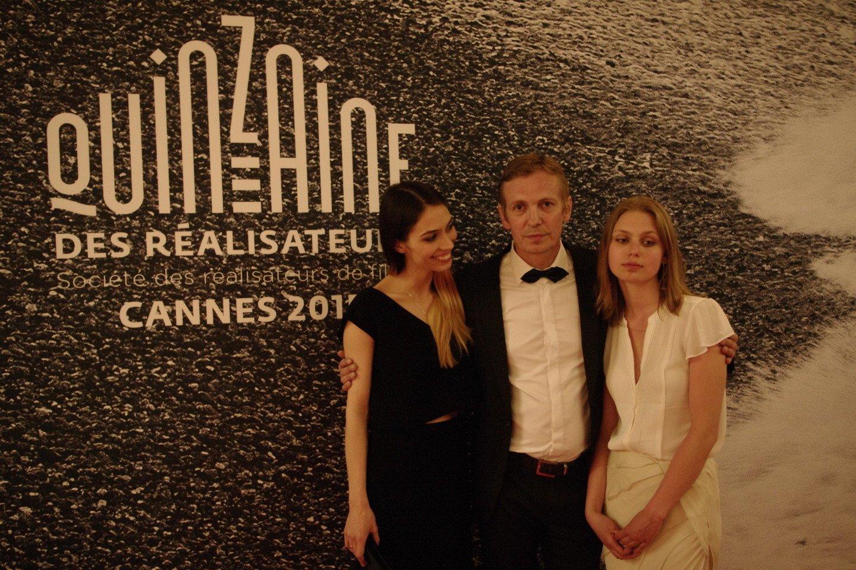 Šarūnas Bartas su Lora Kmieliauskaite ir dukra Ina Marija (dešinėje).<br>LR archyvo nuotr.