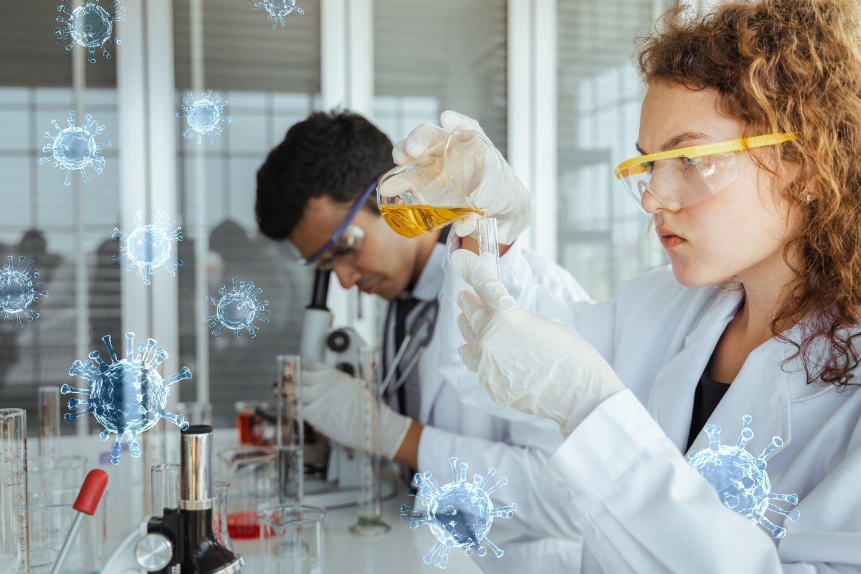 """Europos Komisija neatidėliotiniems moksliniams koronaviruso atmainų tyrimams skiria 123 mln. eurų iš naujosios ES mokslinių tyrimų ir inovacijų programos """"Europos horizontas"""".<br>123rf nuotr."""