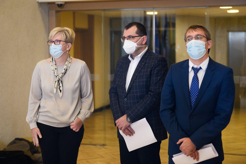 Ingrida Šimonytė, Vytautas Kasiulevičius, Vaidotas Zemlys-Balevičius<br>V.Skaraičio nuotr.