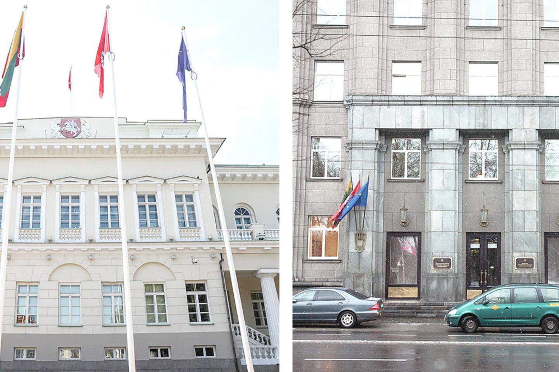 Informacijos iš Prezidentūrose (nuotr. kairėje) ir Užsienio reikalų ministerijos galima gauti ne tik oficialiais kanalais.