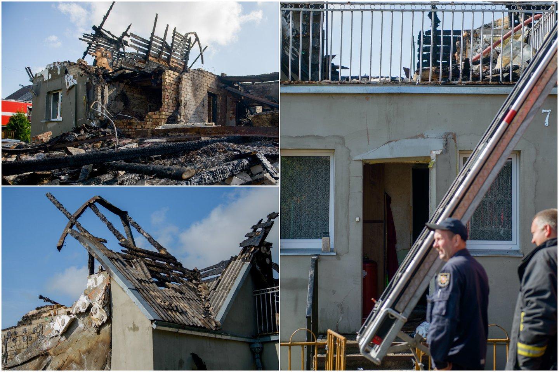 Kauno rajone nugriaudėjus sprogimui, apdegė šeimininkas, liepsnos nusiaubė gyvenamąjį namą.<br>Lrytas.lt koliažas