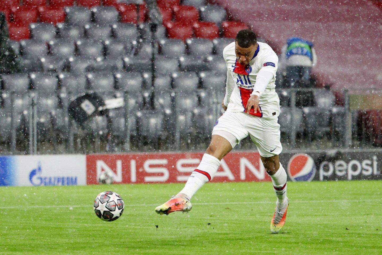 Kylianas Mabappe pelnė du įvarčius.<br>Reuters/Scanpix nuotr.