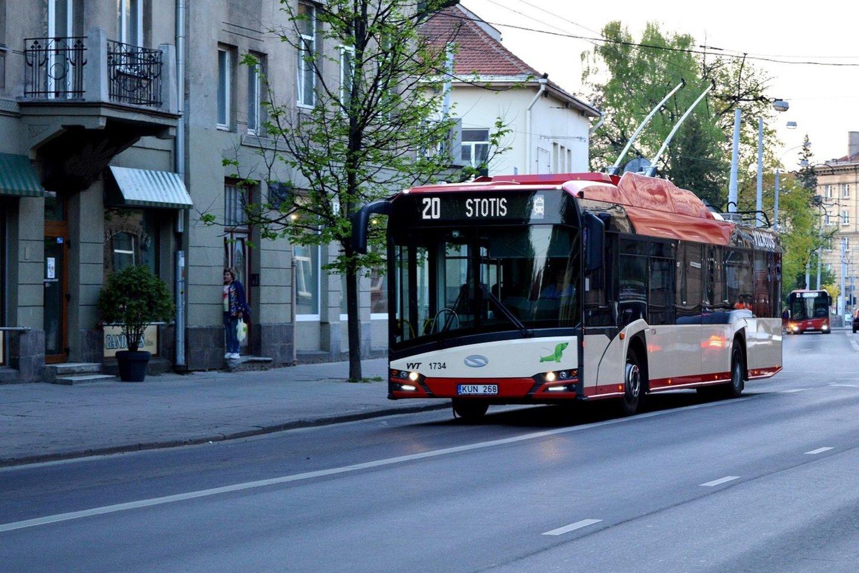 Viešasis transportas nuo balandžio 12 d. sostinėje kursuos dažniau ir bus talpesnis.<br>Pranešėjų spaudai nuotr.