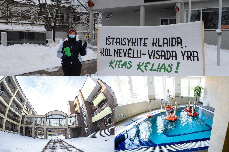 """Sanatorija """"Belorus"""", kurioje dirba beveik 400 darbuotojų, Druskininkams pastaruoju metu tapo tikru galvos skausmu.<br>Lrytas.lt fotomontažas"""