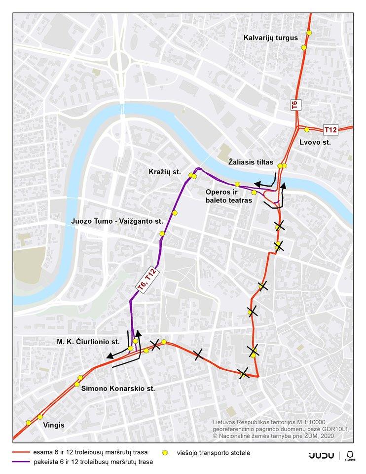 Balandžio 12–21 d. J. Basanavičiaus gatvėje dėl inžinerinių tinklų rekonstrukcijos darbų numatomi eismo ir viešojo transporto judėjimo pokyčiai.<br>Pranešėjų spaudai nuotr.