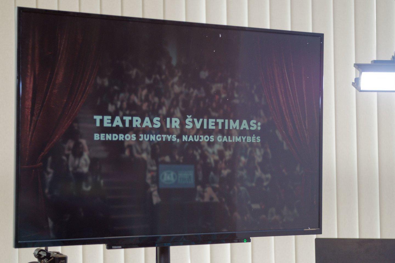 "Virtualus forumas ""Teatras ir švietimas"" LNOBT.<br>LNOBT nuotr."