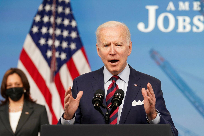 JAV prezidentas Joe Bidenas.<br>REUTERS/Scanpix nuotr.